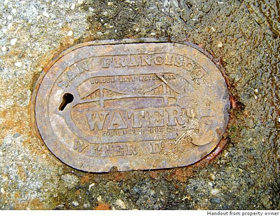 Rusty water cover from 740-24th Avenue in S.F. Photo: Handout From Property Owner