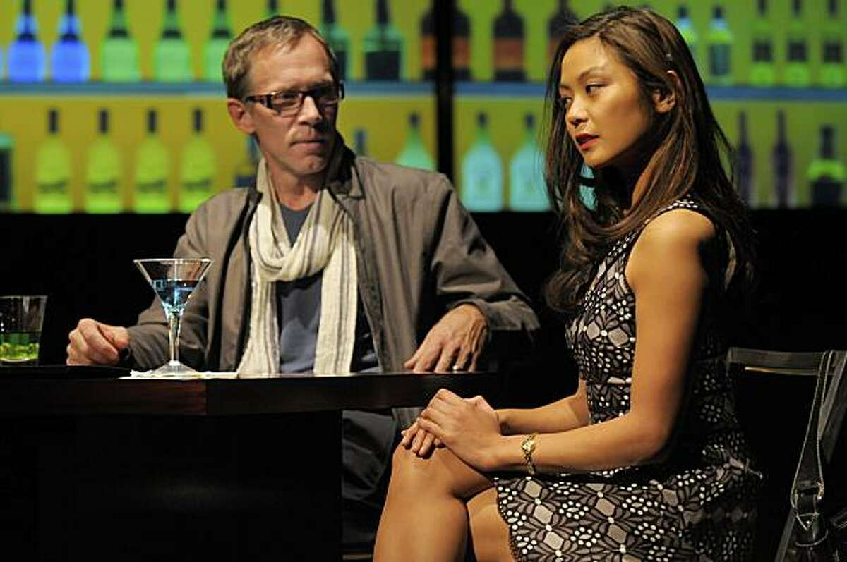 Dmitri (Bruce McKenzie, left) flirts with his translator Kiku (Teresa Avia Lim) in Naomi Iizuka's