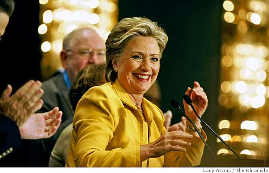 Senate Hillary Clinton is applauded by New York Delegate during a breakfast held to welcome them and to reassure them that the democratic party is united,  Monday Aug. 25, 2008,  in Denver, Colorado. Photo: Lacy Atkins, The Chronicle