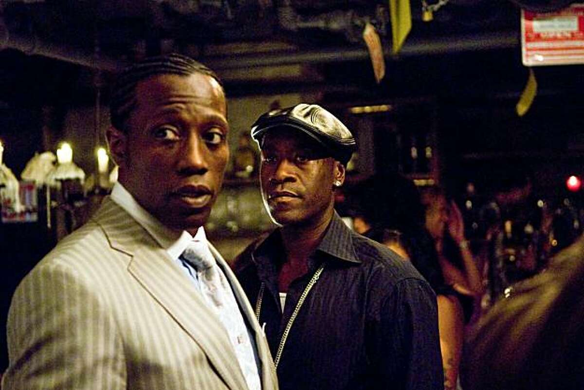(Left to right.) Wesley Snipes and Don Cheadle star in Overture Films?• BROOKLYN?•S FINEST.