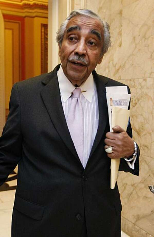 House Ways and Means Committee Chairman Rep. Charles Rangel, D-N.Y., leaves the House chamber on Capitol Hill in Washington, Friday, Feb. 26, 2010. Rangel says he will not step down as chairman of the powerful House Ways and Means Committee even though the ethics committee found that he violated House rules by accepting corporate-sponsored trips to the Caribbean. Photo: Manuel Balce Ceneta, AP