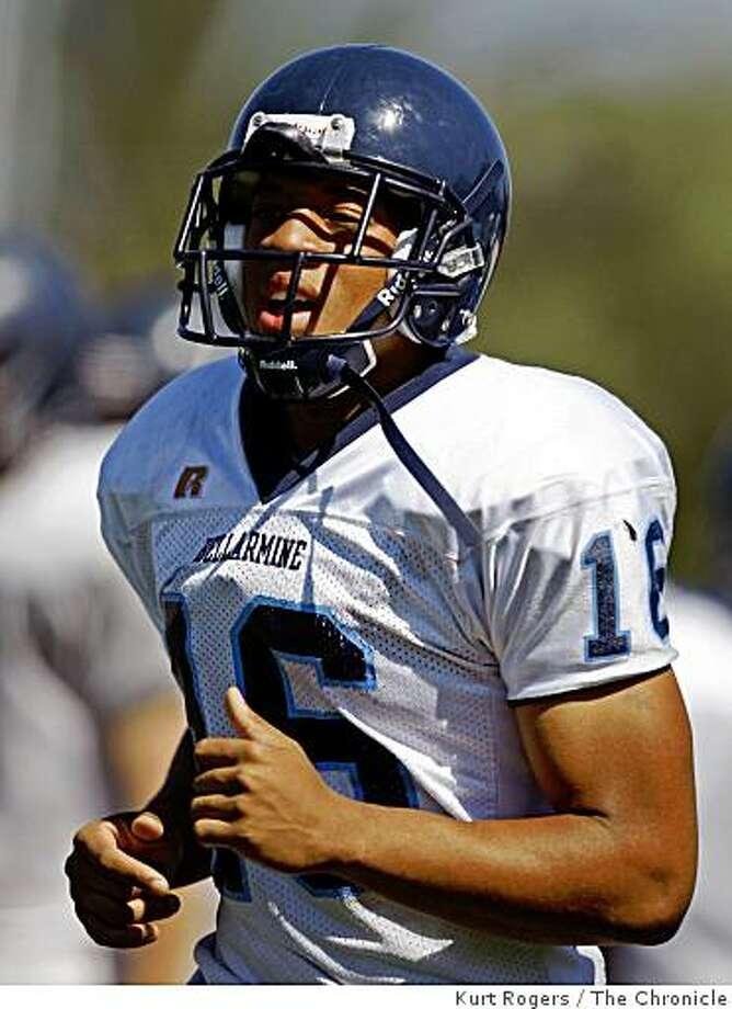 Bellarmine College Prep High School Defensive back Usua Amanam on Tuesday, Aug 26  2008 in San Jose , Calif Photo: Kurt Rogers, The Chronicle