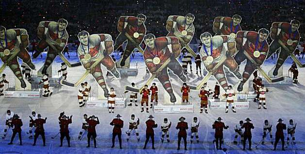 Dancers perform during the closing ceremony for the Vancouver 2010 Olympics in Vancouver, British Columbia, Sunday, Feb. 28, 2010. Photo: David J. Phillip, AP