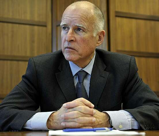 "In this photo taken Dec. 24, 2009, Jerry Brown is shown at his office in Oakland, Calif. The son of popular two term governor Edmund G. ""Pat"" Brown, he began his political career as a community college trustee in the 1960s. He rocketed to national prominence when he won the governorship in 1974 and ran three times for president. Most recently, he served for eight years as Oakland's mayor. Photo: Russel A. Daniels, AP"