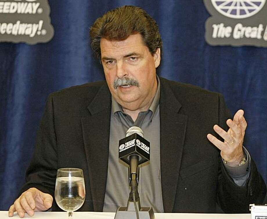 NASCAR Ppresident Mike Helton speaks Monday, March 1, 2010, at Texas Motor Speedway in Fort Worth, Texas. Photo: Kelley Chinn, AP