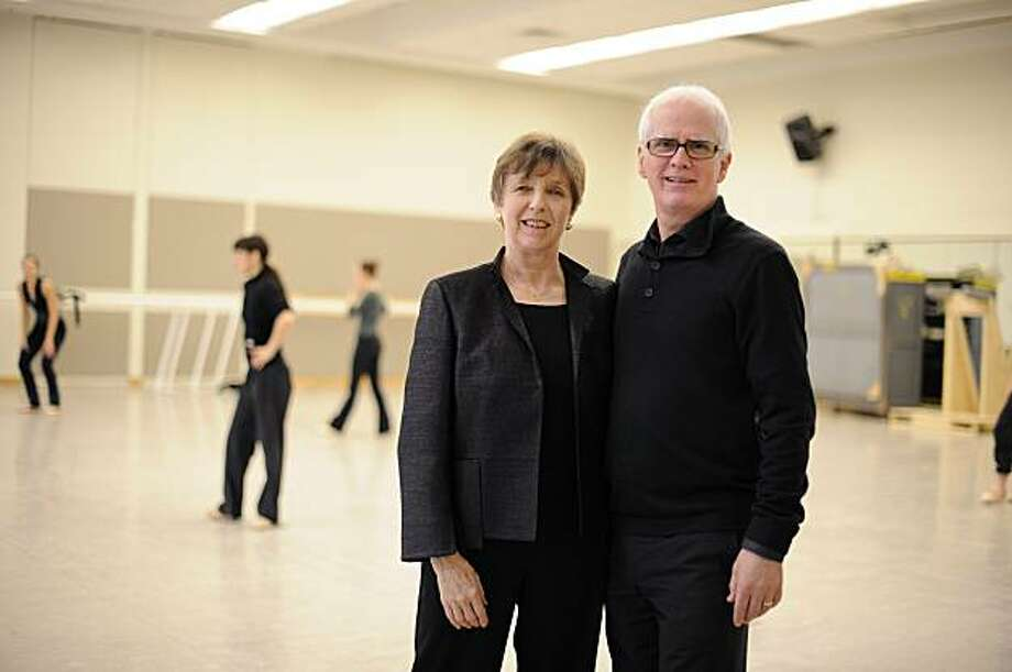 Helgi Tomasson, right, with Chris Helman, ermitus chair of the SF Ballet Board of Trustees for whom the company's Franklin Street headquarters will be named. Photo: Erik Tomasson, Courtesy SF Ballet