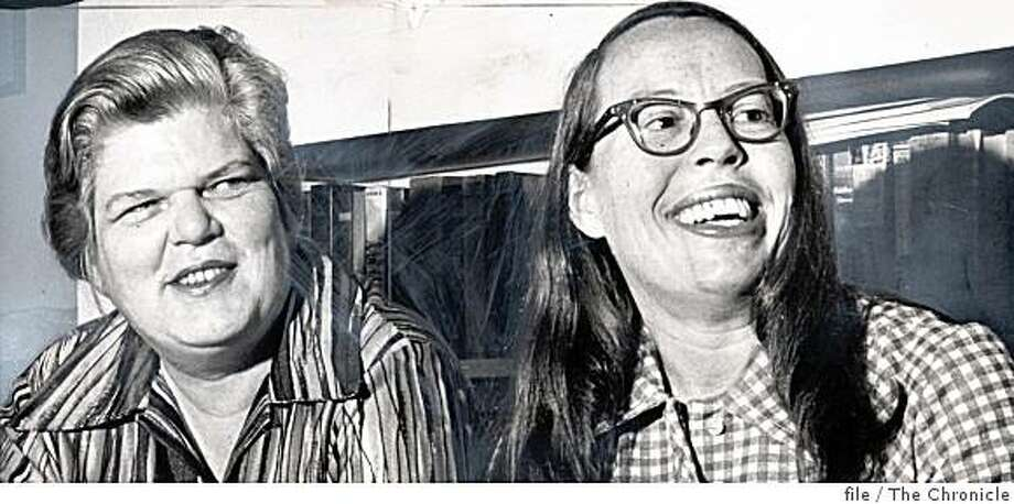 Del Martin and Phyllis Lyon in the 1970s. Photo: File, The Chronicle