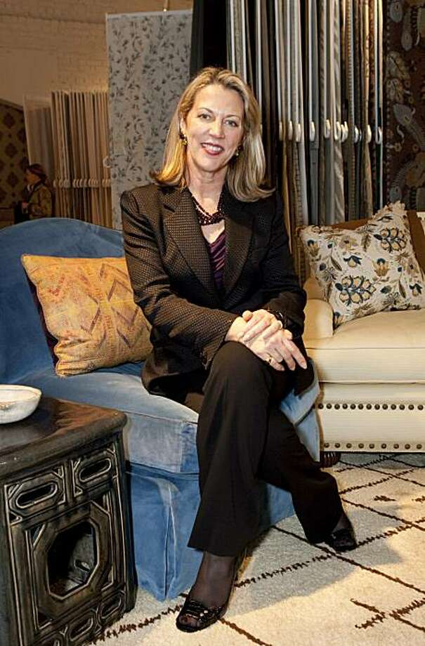 Suzanne Tucker attends a party for her new textiles line at the San Francisco Design Center in San Francisco, Calif., on Thursday, February 4, 2010. Photo: Laura Morton, Special To The Chronicle