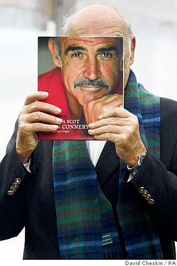 British actor Sir Sean Connery launches his long-awaited memoirs at the Edinburgh International Book Festival, in Edinburgh, Scotland, on Monday Aug. 25, 2008. (AP  Photo / David Cheskin, pa) ** UNITED KINGDOM OUT NO SALES NO ARCHIVE ** Photo: David Cheskin, PA