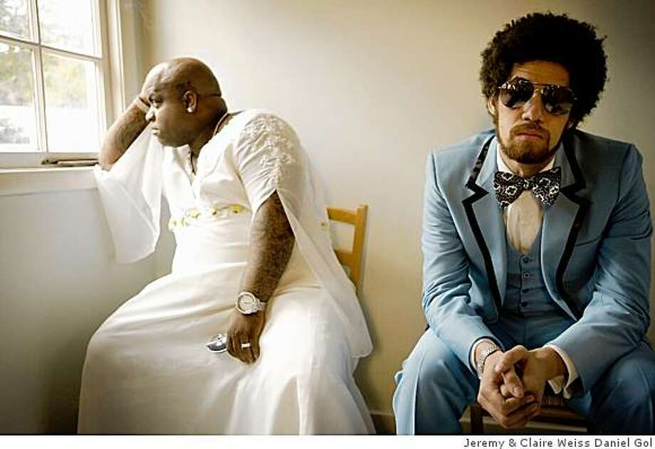 """Gnarls Barkley. The musical duo consists of Brian """"Danger Mouse"""" Burton (left) and Cee-Lo Green. Photo: Jeremy & Claire Weiss Daniel Gol"""