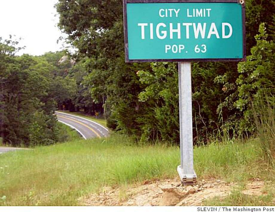 Local lore has it that the tiny town in Missouri got its name from a watermelon deal gone bad. Illustrates TIGHTWAD (category a), by Peter Slevin (c) 2008, The Washington Post. Moved Monday, Aug. 18, 2008. (MUST CREDIT: Washington Post photo by Peter Slevin.) Photo: SLEVIN, The Washington Post