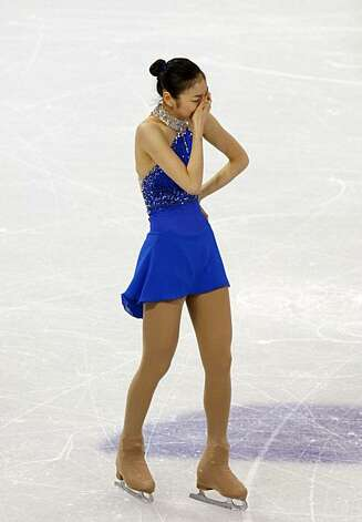 Yu-Na Kim of the Republic of Korea finishes her gold medal-winning program in the free program of the women's figure skating competition at the Winter Olympic Games in Vancouver, British Columbia, on Thursday, Feb. 25, 2010. Paul Chinn/Chronicle Olympic Bureau Photo: Paul Chinn, The Chronicle