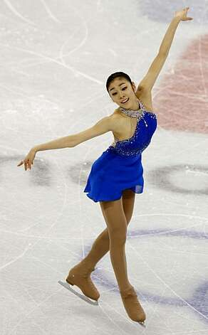 Yu-Na Kim of the Republic of Korea performs in the free program of the women's figure skating competition at the Winter Olympic Games in Vancouver, British Columbia, on Thursday, Feb. 25, 2010. Paul Chinn/Chronicle Olympic Bureau Photo: Paul Chinn, The Chronicle