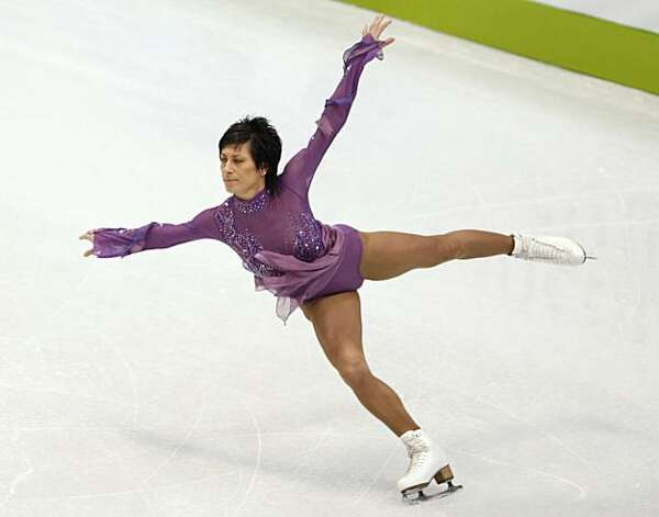 Anastasia Gimazetdinova of Uzbekistan performs in the free program of the women's figure skating competition at the Winter Olympic Games in Vancouver, British Columbia, on Thursday, Feb. 25, 2010. Paul Chinn/Chronicle Olympic Bureau Photo: Paul Chinn, The Chronicle