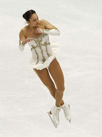 Sarah Meier of Switzerland performs in the free program of the women's figure skating competition at the Winter Olympic Games in Vancouver, British Columbia, on Thursday, Feb. 25, 2010. Paul Chinn/Chronicle Olympic Bureau Photo: Paul Chinn, The Chronicle
