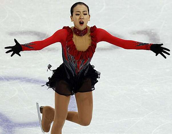 Silver medalist Mao Asada of Japan performs in the free program of the women's figure skating competition at the Winter Olympic Games in Vancouver, British Columbia, on Thursday, Feb. 25, 2010. Paul Chinn/Chronicle Olympic Bureau Photo: Paul Chinn, The Chronicle