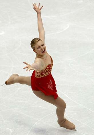 Rachael Flatt of the United States performs in the free program of the women's figure skating competition at the Winter Olympic Games in Vancouver, British Columbia, on Thursday, Feb. 25, 2010. Paul Chinn/Chronicle Olympic Bureau Photo: Paul Chinn, The Chronicle