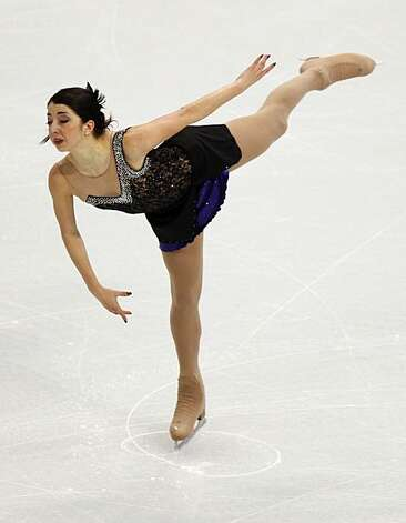 Tugba Karademir of Turkey performs in the free program of the women's figure skating competition at the Winter Olympic Games in Vancouver, British Columbia, on Thursday, Feb. 25, 2010. Paul Chinn/Chronicle Olympic Bureau Photo: Paul Chinn, The Chronicle