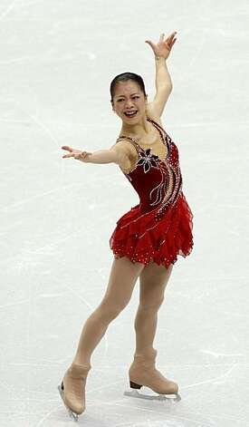 Akiko Suzuki of Japan performs in the free program of the women's figure skating competition at the Winter Olympic Games in Vancouver, British Columbia, on Thursday, Feb. 25, 2010. Paul Chinn/Chronicle Olympic Bureau Photo: Paul Chinn, The Chronicle