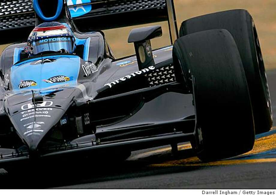 SONOMA, CA - AUGUST 23: Danica Patrick drives the #7 Motorola Andretti Green Racing Dallara Honda during practice for the IRL IndyCar Series PEAK Antifreeze & Motor Oil Indy Grand Prix of Sonoma County on August 23, 2008 at the Infineon Raceway in Sonoma, California.  (Photo by Darrell Ingham/Getty Images) Photo: Darrell Ingham, Getty Images