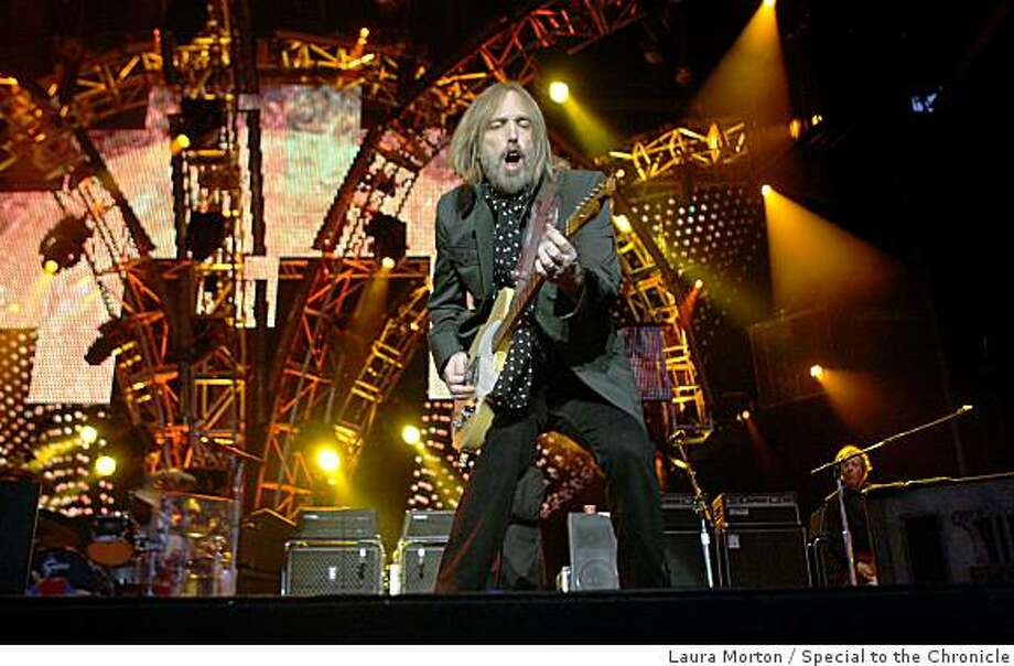 Tom Petty performs with Tom Petty and the Heartbreakers on the main stage at the Outside Lands Music and Arts Festival in Golden Gate Park in San Francisco, Calif., on Saturday, August 23, 2008. Photo: Laura Morton, Special To The Chronicle