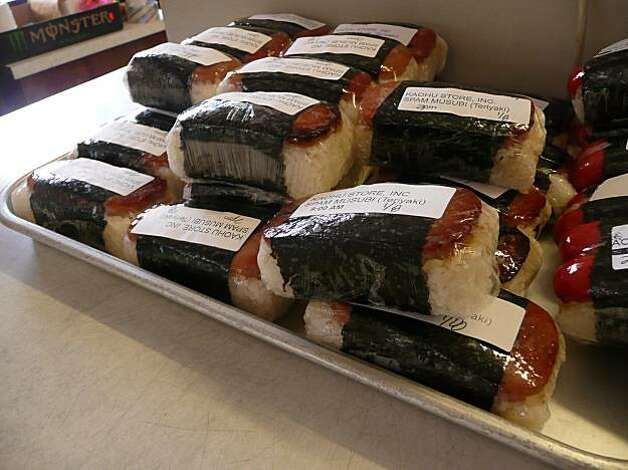 Spam musubi is sold at most convenience stores and gas stations. John Flinn / Special to The Chronicle  1/8/10 Photo: John Flinn, Special To The Chronicle