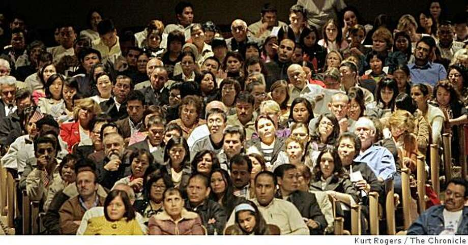The Masonic Auditorium was almost full with people who were there to become United States citizens in a mass naturalization ceremony. on Tuesday, Aug 26  2008 in San Francisco , Calif Photo: Kurt Rogers, The Chronicle