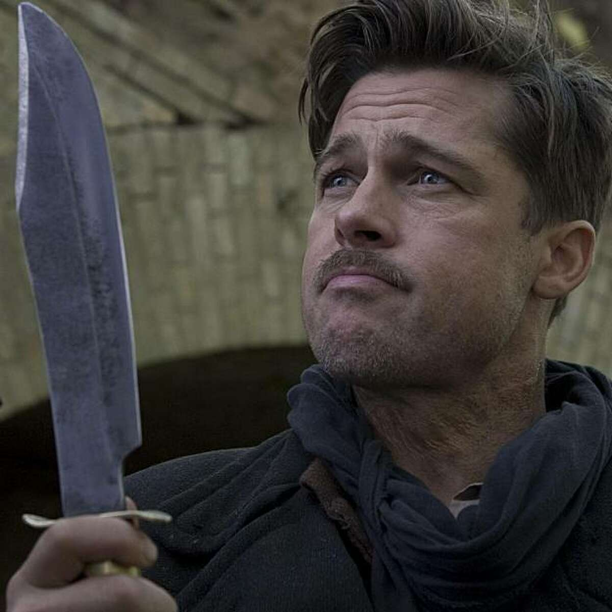 """Brad Pitt in """"Inglourious Basterds."""" It should win best picture, but probably won't."""