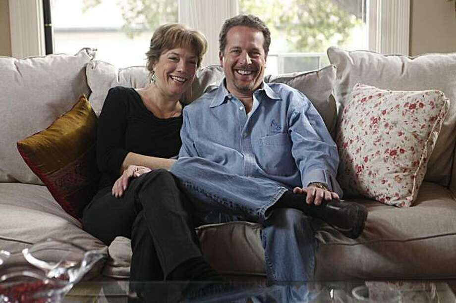 Barbara and Kevin Brown, who met in high school but didn't marry until after a class reunion several years later brought brought them back together, sit on their couch for a portrait  on February 2, 2010 in Alamada, Calif. Photo: Mike Kepka, The Chronicle
