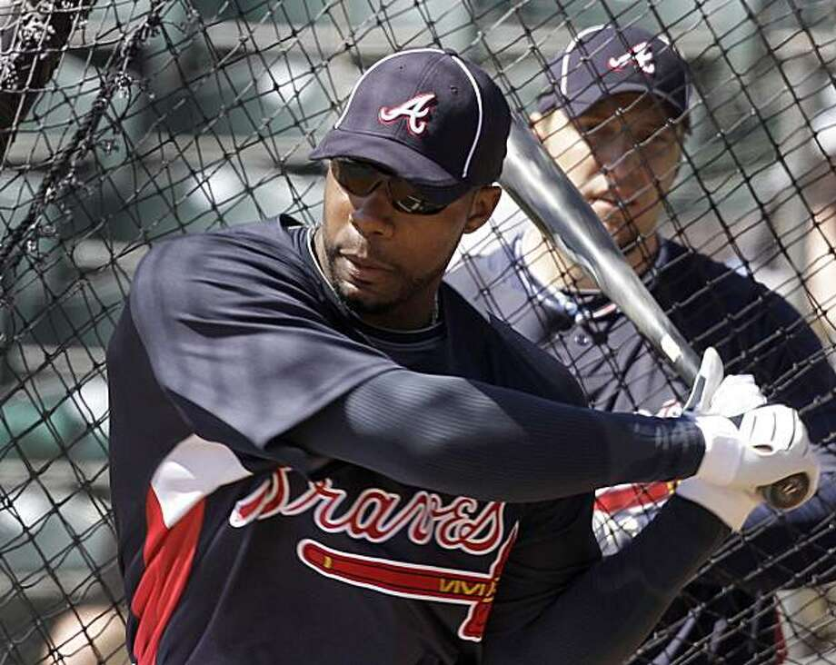 Atlanta Braves outfielder Jason Heyward takes batting practice during spring training baseball practice, Friday, Feb. 26, 2010, in Kissimmee, Fla. Photo: Rob Carr, AP