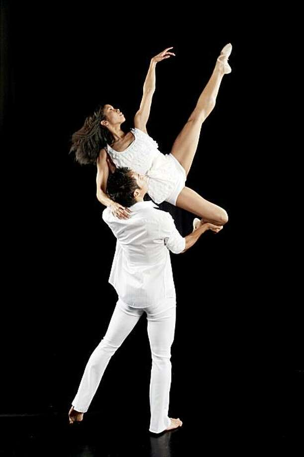 """Dancers Jeffrey Huang and Mia Yamada dance in Robert Moses' Kin's """"The Cinderella Principle: Try these on, see if they fit."""" Feb. 25-27, Yerba Buena Center for the ARts, 701 Mission St., San Francisco. $20-$35. (415) 978-2787, www.ybca.org. Photo: Toni Gauthier"""