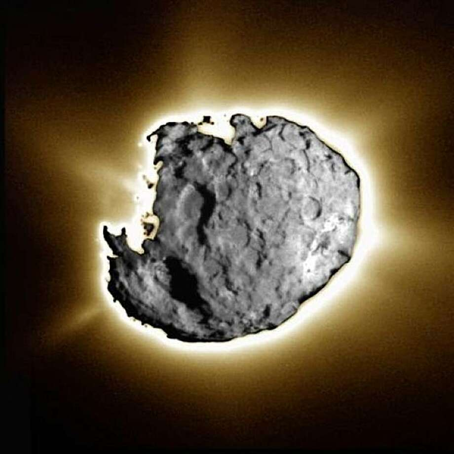 Here's a composite image of Comet Wild 2 which the Stardust spacecraft sampled. Photo: NASA Stardust Mission
