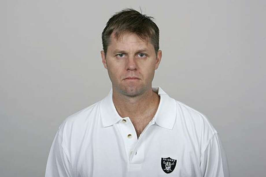 OAKLAND, CA - 2009:  Randy Hanson of the Oakland Raiders poses for his 2009 NFL headshot at photo day in Oakland, California.  (Photo by NFL Photos) Photo: Courtesy, NFL Photos