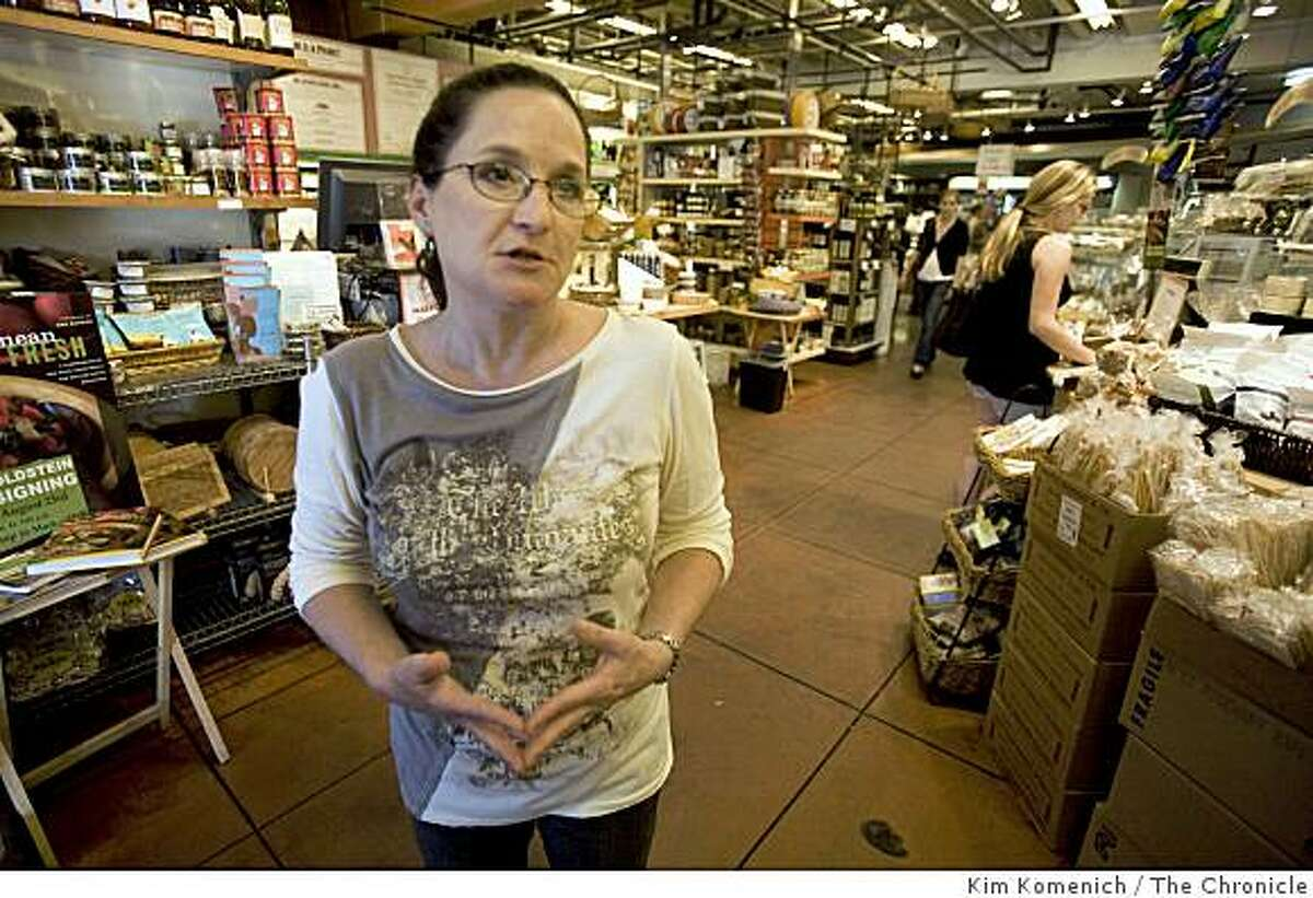 Rockridge Market Hall Office Manager Mary Carpentier discusses the string of robberies that have plagued businesses in Oakland, Calif's Rockridge district. Photographed on Wednesday, Aug. 20, 2008.