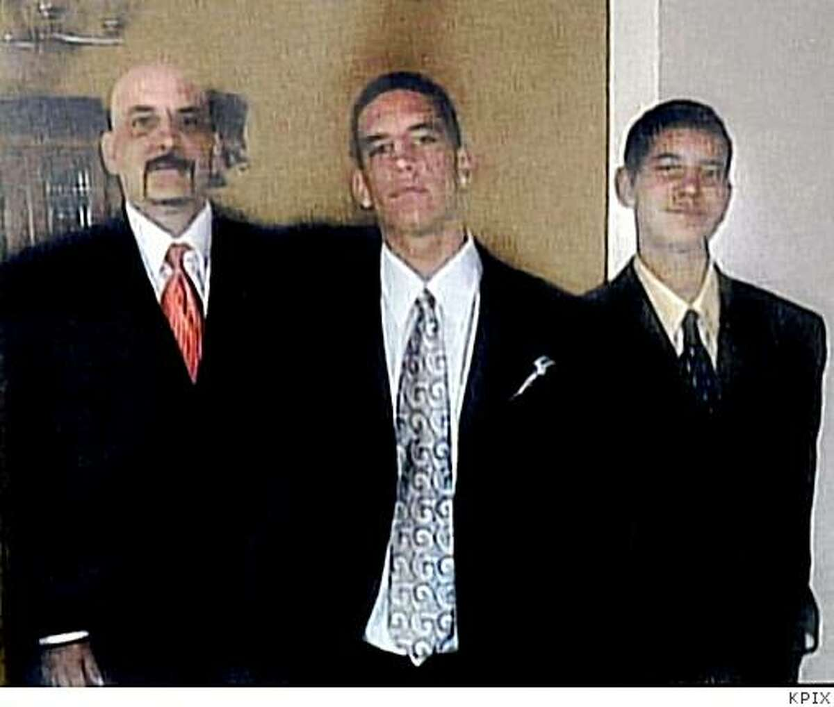 Anthony Bologna, left, and his two sons, Michael, 20, and Matthew, 16, were shot and killed on Sunday, June 22, 2008 in San Francisco, Calif. Edwin Ramos, 21, of El Sobrante was arrested in the slayings. Photo Courtesy to the Chronicle / KPIX