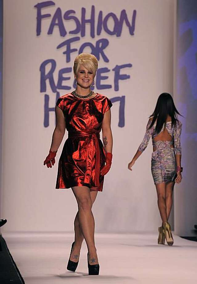 "Kelly Osbourne at the ""Fashion For Relief Haiti NYC 2010 "" show during the fall 2010 Mercedes-Benz Fashion Week, in New York, February. 12, 2010. Photo: Timothy A. Clary, AFP/Getty Images"