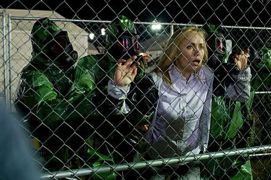 "In this film publicity image released by Overture Films, Radha Mitchell is shown in a scene from, ""The Crazies."" Photo: Saeed Adyani, AP"