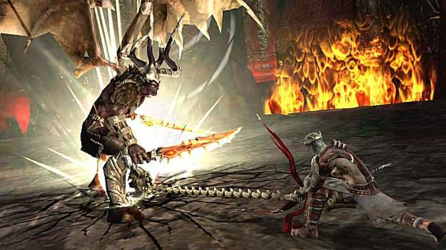 "In this video game image released by Electronic Arts, a scene is shown from the game, ""Dante's Inferno."" Photo: Electronic Arts"
