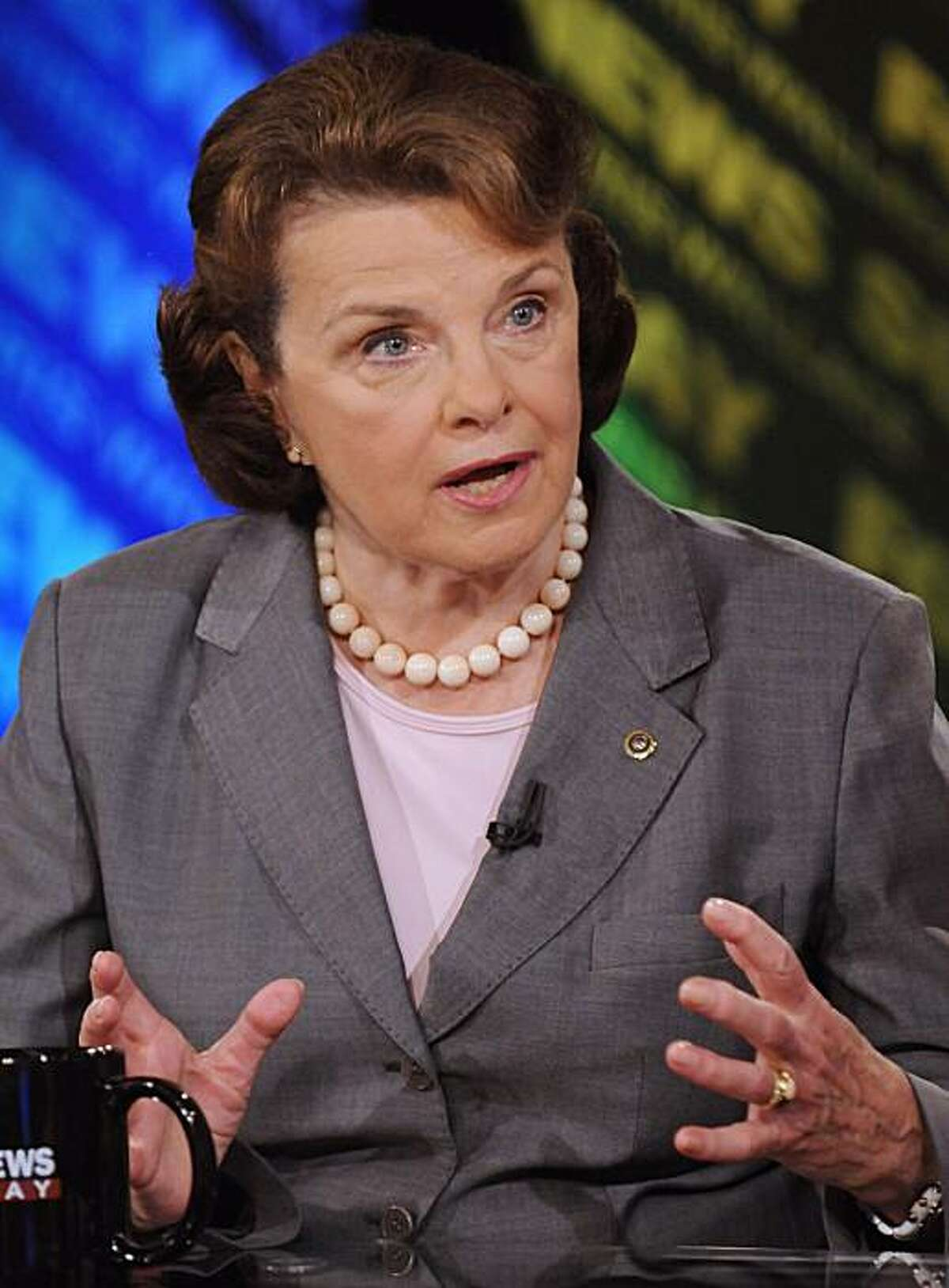 In this photo provided by FOX News, Sen. Dianne Feinstein, D-Calif., appears on