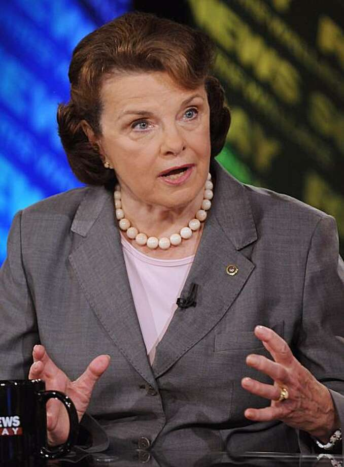 "In this photo provided by FOX News, Sen. Dianne Feinstein, D-Calif., appears on ""Fox News Sunday""  in Washington, Sunday, July 12, 2009. (AP Photo/FOX News Sunday, Freddie Lee) MANDATORY CREDIT: FREDDIE LEE, FOX NEWS SUNDAY Photo: Freddie Lee, AP"