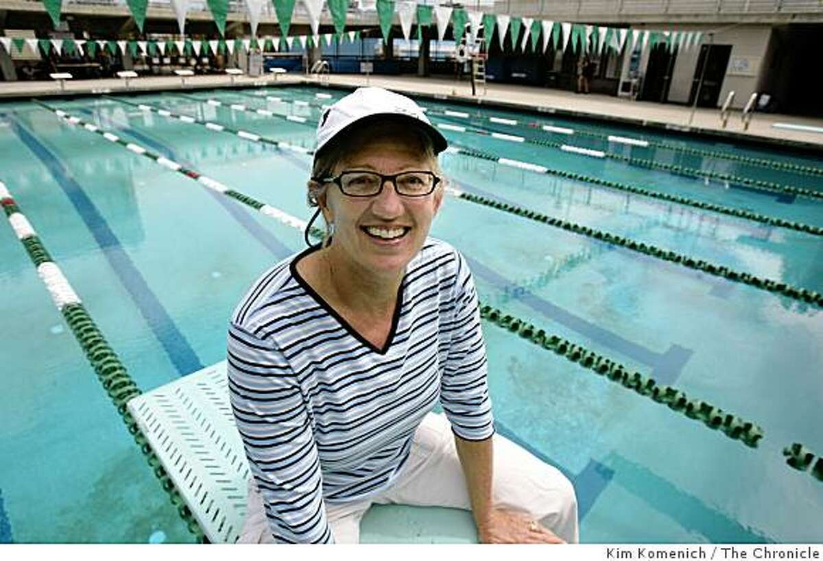 Marcia Benjamin is a swimming teacher at Laney College in Oakland, Calif. She uses algebra to calculate lap pace in races. She is photographed at the Laney College pool on Aug. 20, 2008.