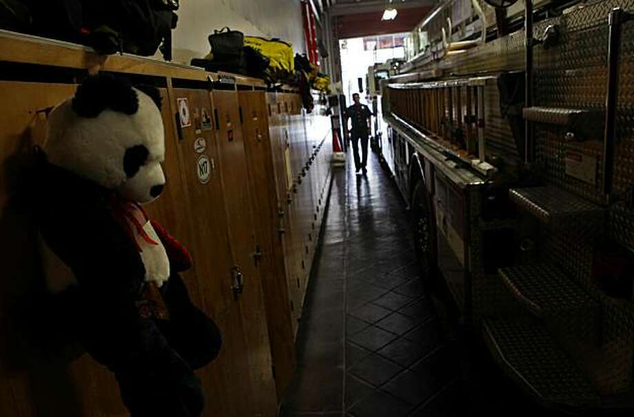 Captain Mike Bello walks through the Fire Station 1 in San Francisco. Photo: Lacy Atkins, The Chronicle