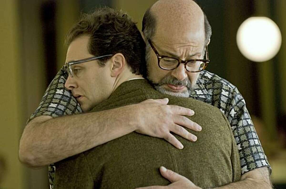 Michael Stuhlbarg (left) stars as Larry Gopnik and Fred Melamed (right) stars as Sy Ableman in writer/directors Joel & Ethan Coen?•s A SERIOUS MAN, a Focus Features release.
