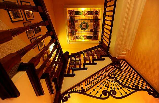 The main staircase of Michael Shannon's Victorian is pictured on Saturday, Feb. 13, 2010, in San Francisco. Photo: Noah Berger, Special To The Chronicle