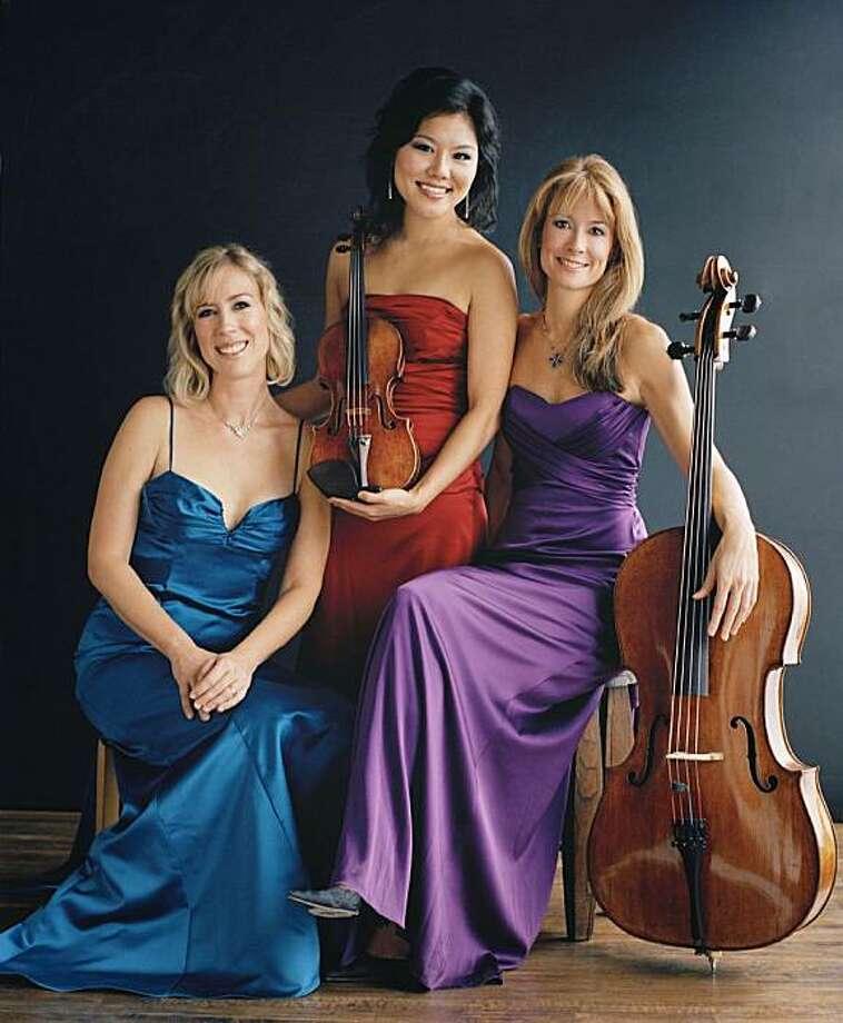 Eroica Trio: (from left) Erika Nickrenz, Susie Park, Sara Sant'Ambrogio Photo: Nina Choi
