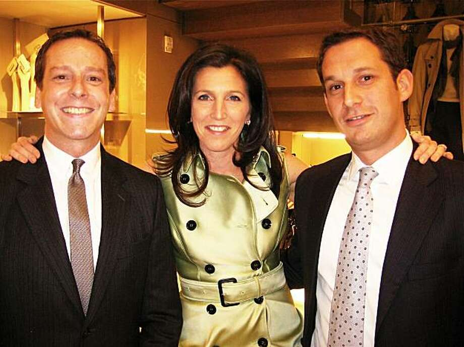 Burberry GM Bruce Rodriguez, host Sloan Barnett and Tipping Point founder-president Daniel Lurie at Burberry. February 2010. Photo: Catherine Bigelow, Special To The Chronicle