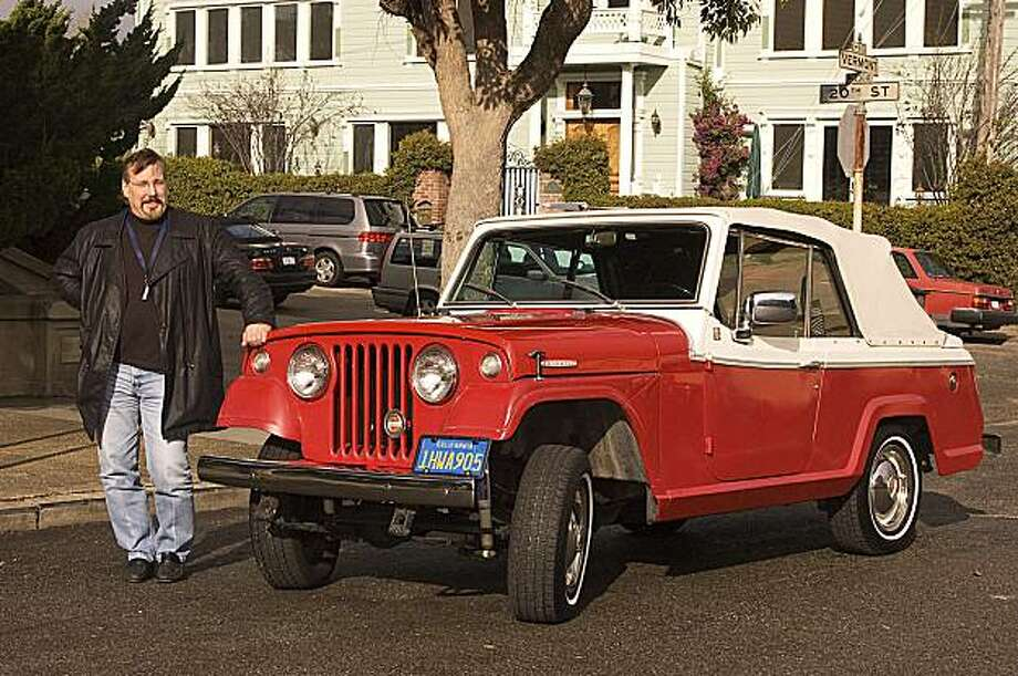 Given that the Jeepster is a vehicle that handles in a way that doesn't forgive many mistakes, why do I love this car so much? Photos of John Rigney and his 1967 Kaiser Jeep 'Jeepster' Commando photographed at McKinley Park on Potrero Hill on January 13, 2010 Photo: Stephen Finerty