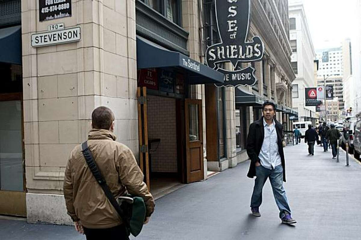 The Sharon Building on New Montgomery Street has several businesses on the ground floor including the The Sentinel and the House of Shields in San Francisco, Calif., on Friday, February 19, 2010.