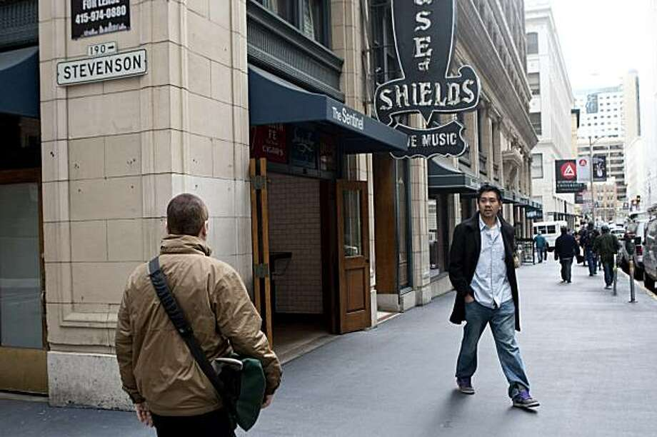 The Sharon Building on New Montgomery Street has several businesses on the ground floor including the The Sentinel and the House of Shields in San Francisco, Calif., on Friday, February 19, 2010. Photo: Laura Morton, Special To The Chronicle