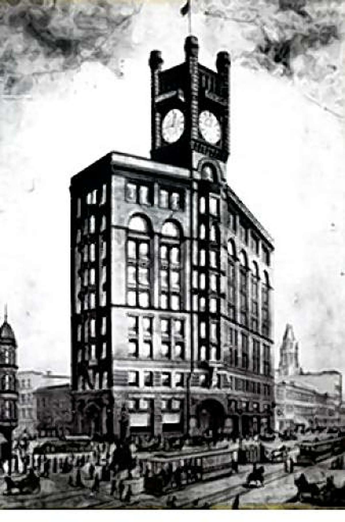 Original 1890's Chronicle building located at 690 Market St. by famous Chicago architectural firm Burnham & Root